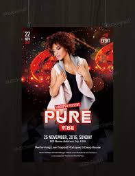 pure vibe psd flyer template net