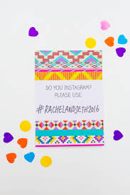 printable wedding invites bespoke bride wedding blog aztec festival printable wedding invitation hashtag instagram poster