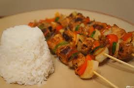 Gingered Chicken kebabs