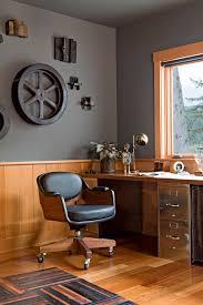 beach office decor home office industrial with gray walls mid century modern beach office decor