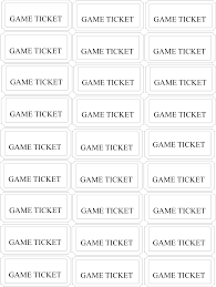 game ticket clipart clipartfox birthday carnival game tickets