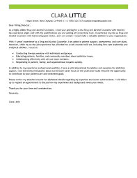 best drug and alcohol counselor cover letter examples livecareer