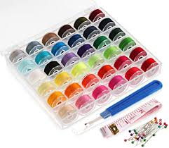 ilauke <b>36Pcs Bobbins</b> and Sewing <b>Thread</b> with Case for Singer ...