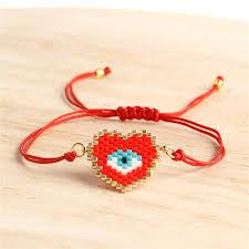 <b>Go2boho</b> Evil Eye <b>Bracelet Perles MIYUKI</b> Heart <b>Bracelets</b> Women ...