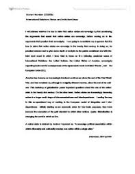 international relations essay   university social studies   marked    page  zoom in