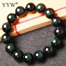 <b>Natural</b> Black <b>Obsidian</b> Bracelet Round <b>Natural</b> Stone Bracelets for ...