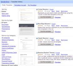 resume  amp  cover letter google docs templates