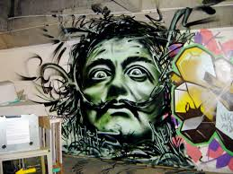 person of interest salvador dali black mark dali in aerosol in the collingwood underground