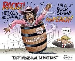 Image result for frederica wilson empty barrel