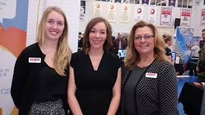 loyalist college career fair career edge pictured here at the career fair is l r megan brown employment counsellor amanda bolyea youth employment services coordinator and lynn kelly job