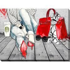 "Shop BY Jodi ""<b>Coffee</b> Break"" Giclee Stretched Canvas <b>Wall</b> Art ..."