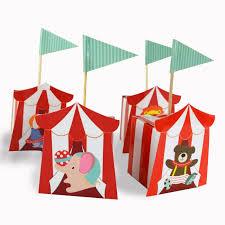 <b>20pcs</b>/<b>lot</b> Circus <b>Candy Box Red</b> Striped Kids Birthday Party ...