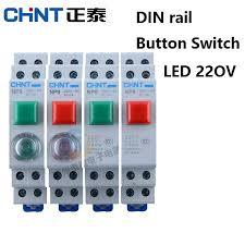 <b>CHINT</b> CHNT NP9 push <b>button switch</b> card DIN rail <b>button switch</b> ...