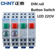 <b>CHINT</b> CHNT NP9 <b>push button</b> switch card DIN rail button switch ...