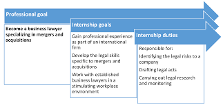 making the most of your internship example of goals and duties