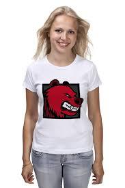 <b>Футболка классическая Printio RED</b> BEAR #1636273