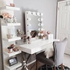 Weekend Decorating Idea Set Up Your Self Love Station U2014 The Decorista Bedroom Table IdeasMakeup   O
