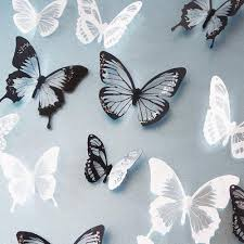 <b>18Pcs 3D</b> Crystal <b>Butterfly</b> Wall Sticker Art Decal <b>DIY</b> Home Decor ...