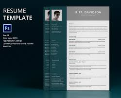 resume template designs creatives psd candidate resume design