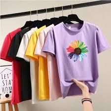<b>Milinsus</b> 2019 New Cartoon Korean <b>women</b> t shirt Fashion Print ...