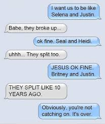 Some of the Most Ridiculous Breakup Texts - Bad Jokes | Guff via Relatably.com