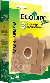 Купить <b>Мешок</b>-пылесборник EcoLux Extra EC 401 <b>бумажный</b> для ...