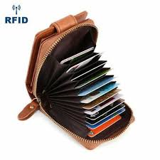 Genuine <b>Leather</b> RFID Men's Wallet <b>Organ Card</b> Holder Short ...