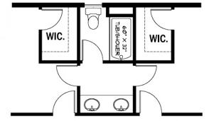 jill bathroom configuration optional: jack and jill bathroom plans eplans farmhouse house plan