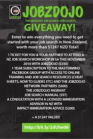giveaway enter to win a sa nov 2016 job search workshop ticket jobzdojo job search workshop giveaway to get yourself a job offer to so you can immigrate