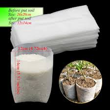 Different Sizes <b>Biodegradable Non</b>-<b>woven Nursery</b> Bags Plant Grow ...