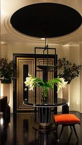 art deco influenced interior design by gibbons with stepped walls and ceilings cynthia reccord art deco office tower piet