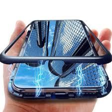 Bakeey <b>360</b>° <b>magnetic</b> adsorption flip metal tempered glass ...