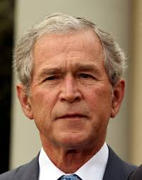 George W. Bush  - 2021 Dyed hair & casual hair style.