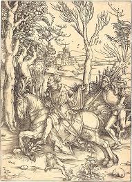 <b>Рыцарь на коне</b> и ландскнехт Гравюра — Гравюры Дюрера