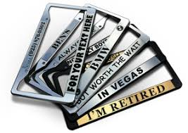 Design a Personalized Chrome <b>License Plate Frame</b> For Your ...