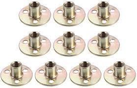 uxcell <b>10Pcs</b> M10x37x2.5mm Brad Hole Tee Nut <b>Carbon</b> Steel