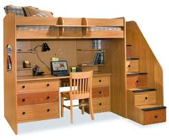 image of childrens bunk bed with stairs and desk childrens bunk bed desk full