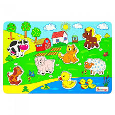 <b>Деревянная игрушка Alatoys Пазл</b> Ферма - Акушерство.Ru