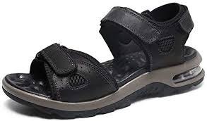 VISIONREAST Mens Leather Sandals Open Toe ... - Amazon.com