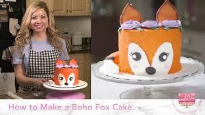 How to Make a <b>Boho Fox</b> Cake - YouTube