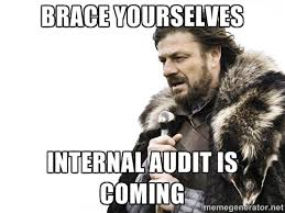 Brace yourselves Internal audit is coming - Brace yourself | Meme ... via Relatably.com
