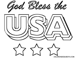 Small Picture Coloring Pages I Love Usa