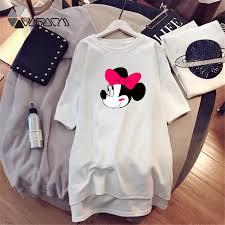 <b>2019 Summer</b> Women <b>Dresses</b> Minnie <b>Mickey</b> Cartoon Print Casual ...