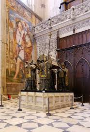 christopher columbus villian or hero writework english the tomb of christopher columbus seville cathedral spain franccedilais tombeau
