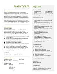 resume example  example of resume skills example resume computer    insurance company work experience administrative resume examples personal abilities