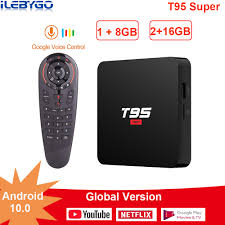 <b>T95 Super</b> TV BOX Android 10.0 <b>Allwinner H3</b> 2GB 16GB Smart tv ...