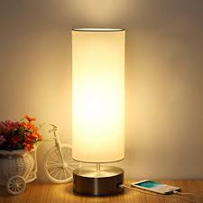 USB Table Lamp, Boncoo Touch Control Bedside ... - Amazon.com