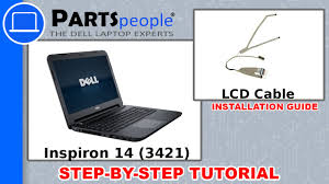 <b>Dell Inspiron 14</b> (3421) LCD Cable How-To Video Tutorial - YouTube