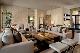 ownby design trendy living room photo in phoenix with a stone fireplace surround awesome large living room