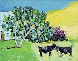 لوحات الريف القروب الاحمر